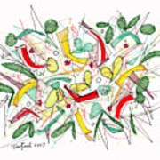 Abstract Pen Drawing Twenty-two Poster