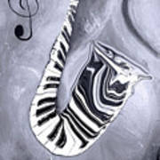 Piano Keys In A Saxophone 5 - Music In Motion Poster