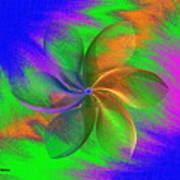Abstract Pinwheel Poster