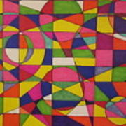 Abstract Rainbow Of Color Poster