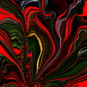 Abstract- Red Flower Garden Poster