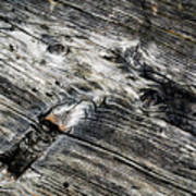 Abstract Shapes On An Old Weathered Wooden Board Poster