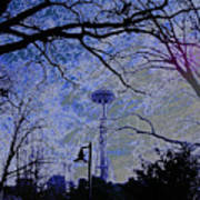 Abstract Space Needle Poster