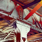 Grunge Steel Beam Poster
