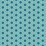 Abstract Turquoise Pattern 2 Poster