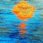 Abstract Watery Sunset Poster