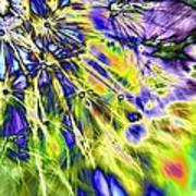 Abstract Wildflower 5 Poster