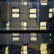 Abstract Window Reflections - Nyc Poster