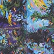Abstracted Koi Pond Poster