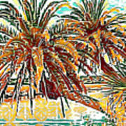 Abstracted Loop Palms Poster