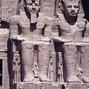 Abu Simbel In Egypt Poster