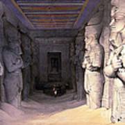 Abu Simbel Temple, 1838 Poster