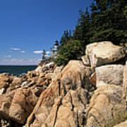 Acadia National Park Maine - Bass Harbor Head Lighthouse Poster
