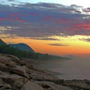 Acadia Sunrise  Poster
