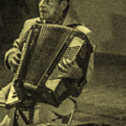 Accordion Player Poster