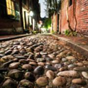Acorn Street Cobblestone Detail Boston Ma Poster