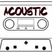 Acoustic Music Tape Cassette Poster