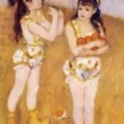 Acrobats At The Cirque Fernando Francisca And Angelina Wartenberg 1879 Poster