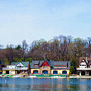 Across From Boathouse Row - Philadelphia Poster by Bill Cannon