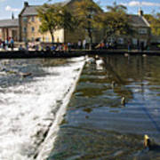 Across The Weir At Bakewell Poster