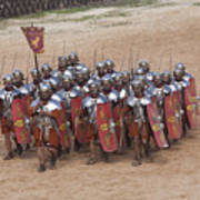 Actors Re-enact A Roman Legionaries Poster by Taylor S. Kennedy
