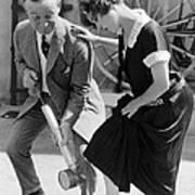 Actress Gets Feet Sprayed Poster