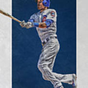 Addison Russell Chicago Cubs Art Poster
