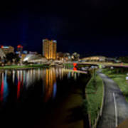 Adelaide Riverbank At Night Iv Poster