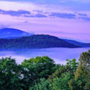 Adirondack Mountains In Fog Poster