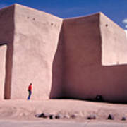 Adobe Church In Taos Poster