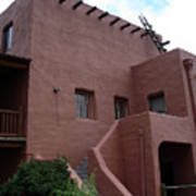 Adobe House At Red Rocks Colorado Poster