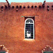 Adobe Wall With Window Poster