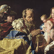 Adoration Of The Magi  Poster by Matthias Stomer