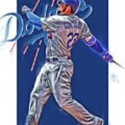 Adrian Gonzalez Los Angeles Dodgers Oil Art Poster
