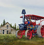 Advance Rumely Steam Traction Engine Poster