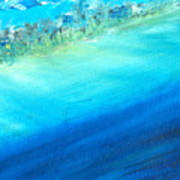 Aerial Coastline Poster