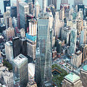 Aerial Of One World Trade Center, New York, Usa Poster