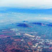 Aerial Usa. Los Angeles, California Poster