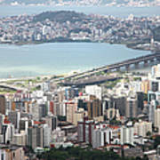 Aerial View Of Florianópolis Poster
