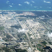 Aerial View Of Fort Lauderdale Airport. Fll Poster