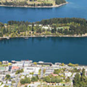 Aerial View Of Queenstown In New Zealand Poster
