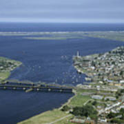 Aerial View Of The Mouth Of Merrimack Poster