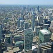 Aerial View Of Toronto Looking North Poster