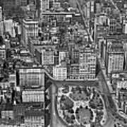 Aerial View Of Union Square Poster