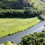 aerial view of Wailua River Poster