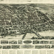 Aero View Of Watertown, Connecticut  Poster