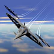 Aerobatics Over Water Poster