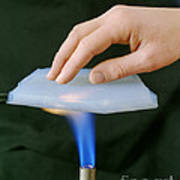 Aerogel, Synthetic Ultralight Material Poster