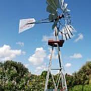 Aeromotor Windmill Poster