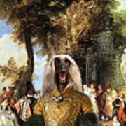 Afghan Hound-the Winch Canvas Fine Art Print Poster